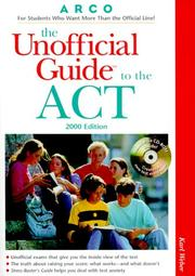 Cover of: UG/The ACT with CD-ROM 2000 ED (Unofficial Guides)