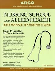 Cover of: Nursing School And Allied Health Entrance Examinations, 15th edition