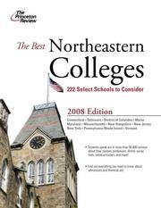 Cover of: The Best Northeastern Colleges, 2008 Edition (College Admissions Guides) | Princeton Review