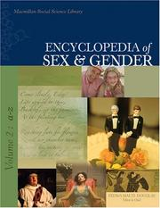 Cover of: Encyclopedia of Sex and Gender (Encyclopedia of Sex & Gender)