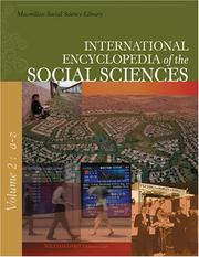 Cover of: International Encyclopedia of the Social Sciences (9 vol. set) (International Encyclopedia of the Social Sciences) | William A. Darity