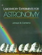 Cover of: Laboratory Experiments for Astronomy