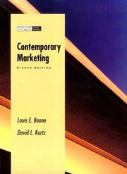 Cover of: Contemporary Marketing Plus/Contemporary Version Without Chapters 5,15, and 20