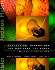 Accounting Information for Business Decisions by Billie M. Cunningham