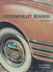 Cover of: Contemporary Business: Learning Guide