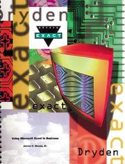 Cover of: Using Microsoft Excel in Business | Mason