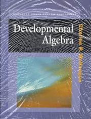 Cover of: DEVELOPMENTAL ALGEBRA