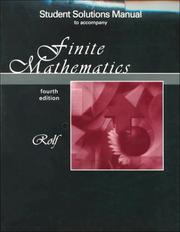 Cover of: Finite Mathematics | Howard L. Rolf