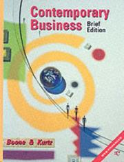 Cover of: Contemporary Business with Personal Finance Module and Student Companion CD