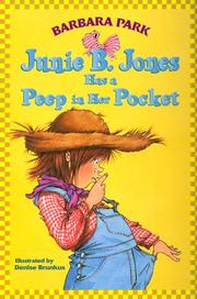 Cover of: Junie B. Jones has a peep in her pocket