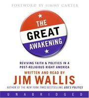 Cover of: The Great Awakening CD: Reviving Faith & Politics in a Post-Religious Right America