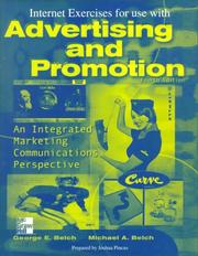 Cover of: Advertising and Promotion | George E. Belch