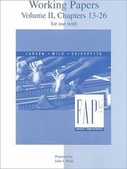 Cover of: Working Papers Volume 2