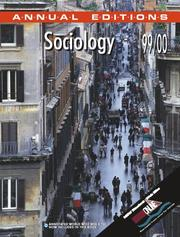 Cover of: Sociology 99/00 (Sociology, 1999-2000)