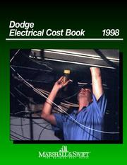 Cover of: Dodge Electrical Cost Book 1998 (Marshall & Swift Cost Book) | Marshall & Swift