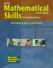 Cover of: Basic Mathematical Skills With Geometry | James Streeter