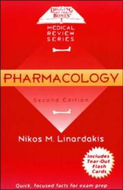 Cover of: Pharmacology (Digging Up the Bones)
