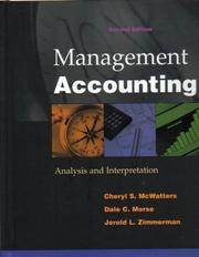 Cover of: Management Accounting | Cheryl S. McWatters