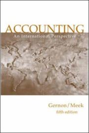 Cover of: Accounting (McGraw-Hill International Editions: Accounting Series) | Helen Gernon