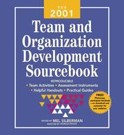 Cover of: The 2001 Team and Organization Development Sourcebook |