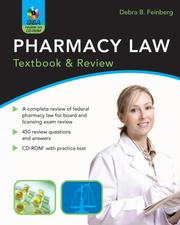 Pharmacy Law by Debra B. Feinberg