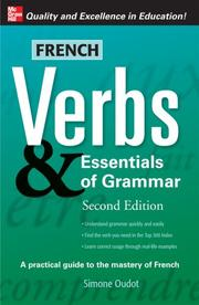 Cover of: French Verbs & Essentials of Grammar, 2E (Verbs and Essentials of Grammar)