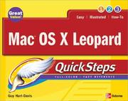 Cover of: Mac OS X Leopard QuickSteps