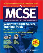 Cover of: McSe Windows 2000 Server Training Pack | Syngress Media
