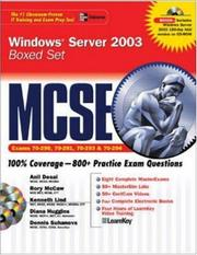 MCSE Windows Server 2003 Boxed Set (Exams 70-290, 70-291, 70-2293, 70-294) by Anil Desai, Curt Simmons, Diana Huggins