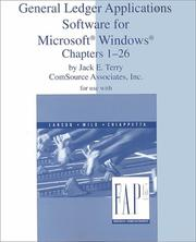 Cover of: General Ledger Applications Software for Microsoft Windows Chapters 1-26