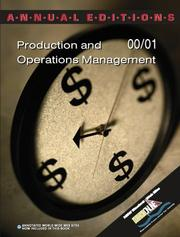 Cover of: Production and Operations Management 00/01