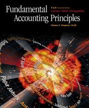 Cover of: Fundamental Accounting Principles Vol. 2 with FAP Partner Vol. 2 CDPackage