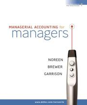 Cover of: Managerial accounting for managers