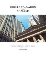 Cover of: MP Equity Valuation and Analysis with eVal CD and Pass Code Card | Russell Lundholm