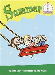Cover of: Summer (Beginner Books(R)) | Alice Low