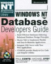 Cover of: Windows Nt Database Developer's Guide (Windows Nt Professional Library)