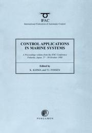 Cover of: Control Applications in Marine Systems 1998 (IFAC Proceedings Volumes) |