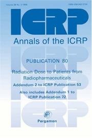 Cover of: ICRP Publication 80 | ICRP