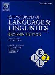 Cover of: Encyclopedia of Language and Linguistics, 14-Volume Set, Volume 1-14, Second Edition | Keith Brown