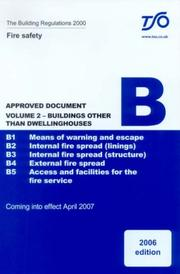 Cover of: Building Regulations Approved Document B: Fire Safety |