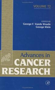 Cover of: Advances in Cancer Research, Volume 72 (Advances in Cancer Research) |