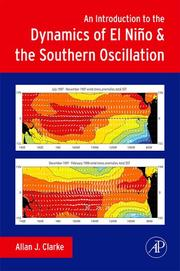 Cover of: An Introduction to the Dynamics of El Nino & the Southern Oscillation | Allan J. Clarke