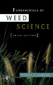 Cover of: Fundamentals of Weed Science | Robert L. Zimdahl