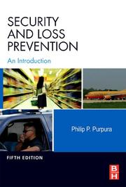 Cover of: Security and Loss Prevention