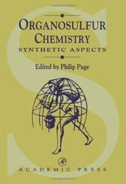 Cover of: Organosulfur Chemistry | P. PAGE