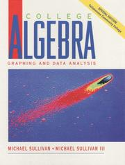 Cover of: College Algebra Graphing and Data Analysis-Tallahassee Version
