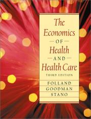 Cover of: The economics of health and health care