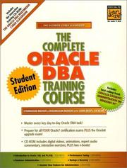 Cover of: The Complete Oracle DBA Training Course