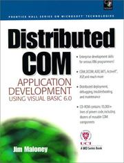 Cover of: Distributed COM Application Development Using Visual Basic 6.0 and MTS | Jim Maloney