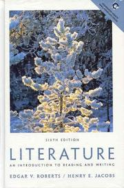 Cover of: Literature an Introduction to Reading and Writing